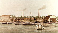Marinewerft in Washington, 1860er Jahre